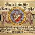1921-Germany-Diepholz-75-pfennig-pf-Notgeld-banknote