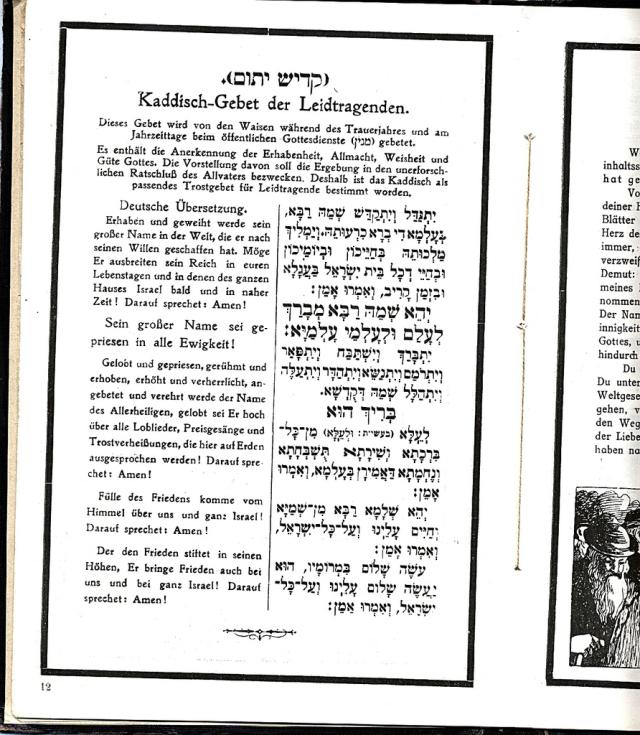 Mourners Kaddish from the Trauer album of Meier Gutmann.