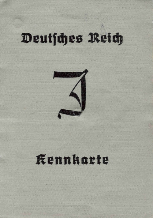 This is the cover of the document that all Jews in Germany had to carry with them at all times.