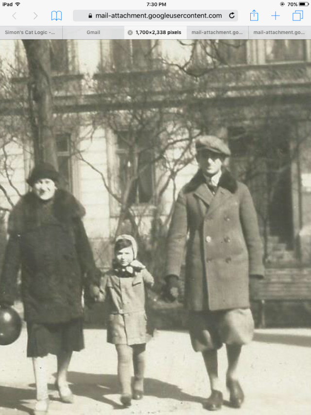 Anna Kaeta with her mother and brother.