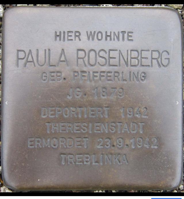 Paula Rosenberg (geb. Pfifferling) Siegen