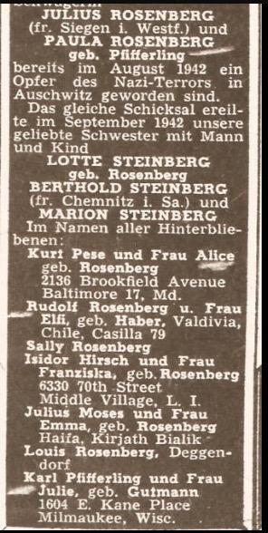 The Aufbau / Obituary